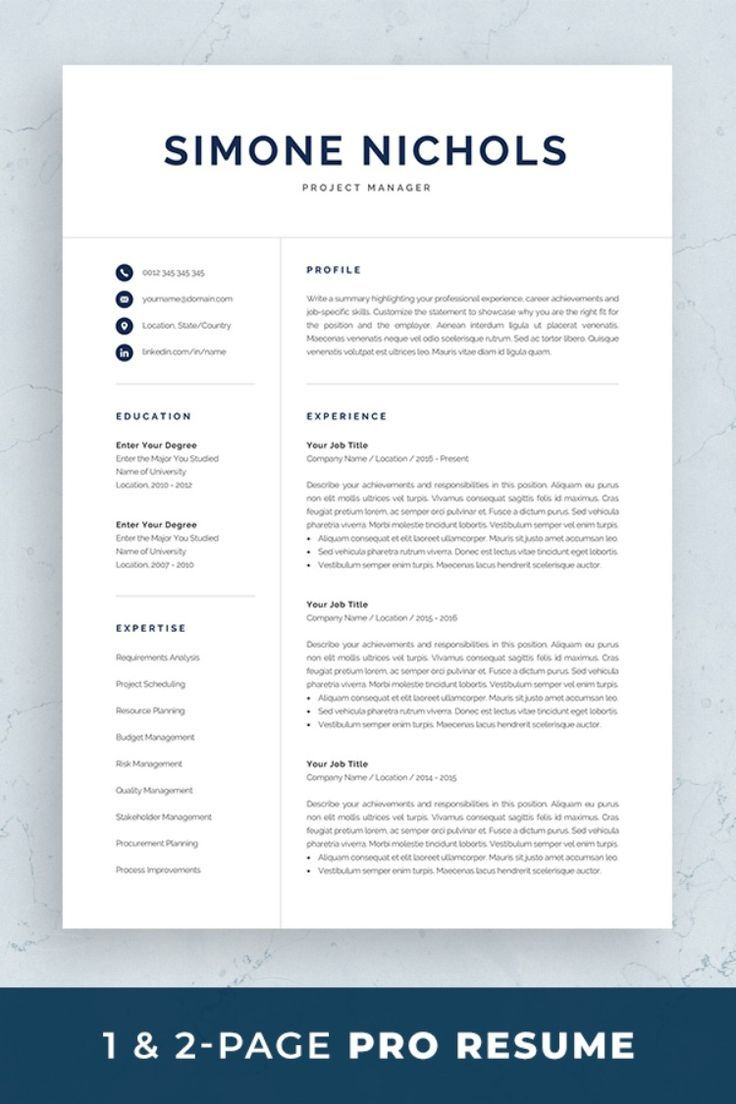 professional resume template for word mac pages 1 and 2 page