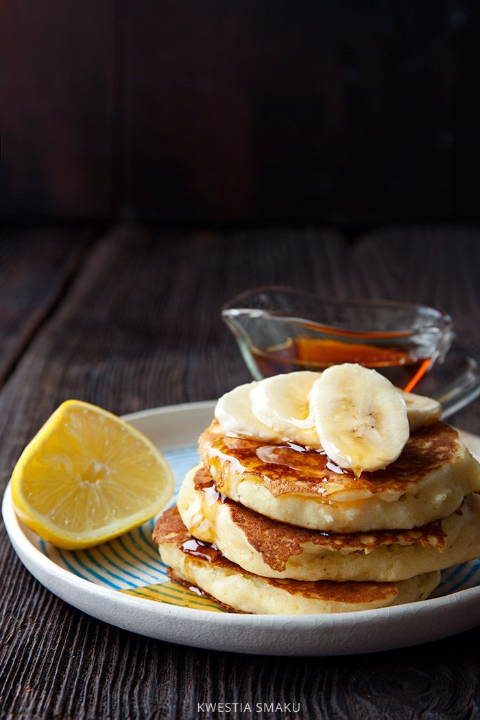 Jogurtowe placki bezglutenowe.  Pancakes z mąki ryżowej. | kwestiasmaku