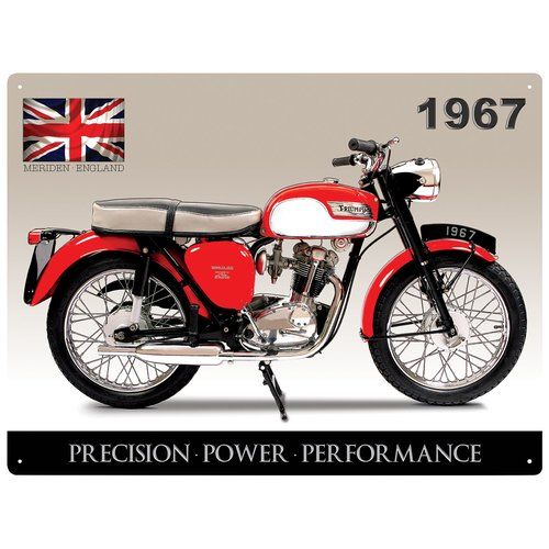 Triumph Tiger Club Motorcycle Tinplate Metal Plaque Wall Art Sign New