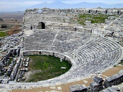 Mileto_Teatro. Periodo helenístico, construcción romana, sobre estructura de bóveda.