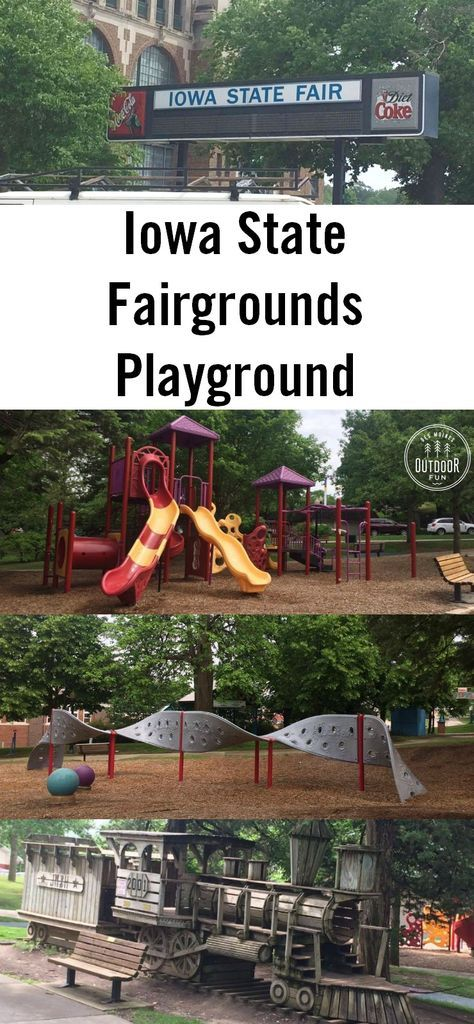 Pictures of the playground on the Iowa State Fair grounds - open for free when the fair isn't running! Fun park in central Iowa!