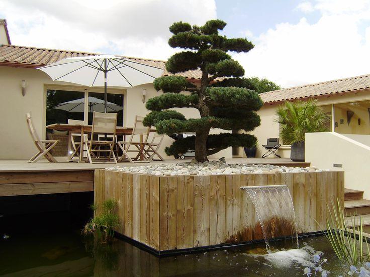Jardin moderne en espaliers : une création les Bojardins | lesbojardins
