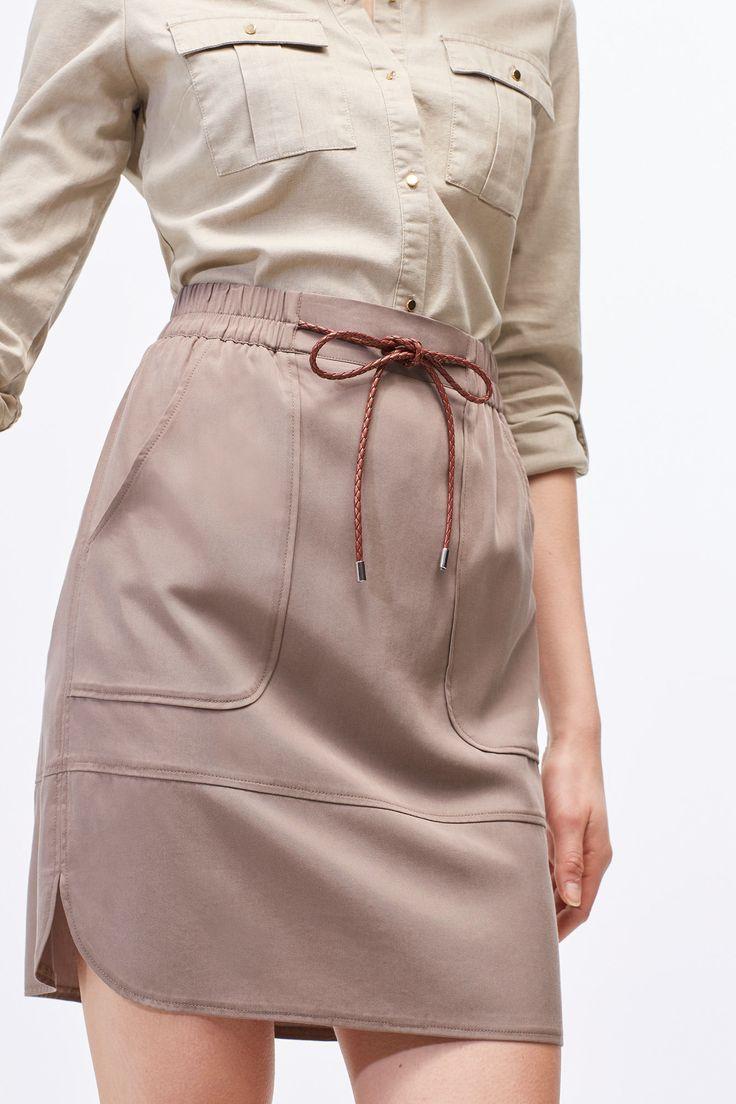 Falda lyocell | Faldas | Cortefiel