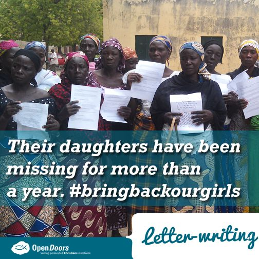 Every single one of the days since their daughters have been kidnapped, has been filled with distress for the Nigerian parents of the still missing Chibok girls.  Unconfirmed reports indicate that as many as 20 of the parents may have died of stress related disease.  We invite you to send these parents a letter of encouragement by clicking here: http://ht.ly/MTjhp
