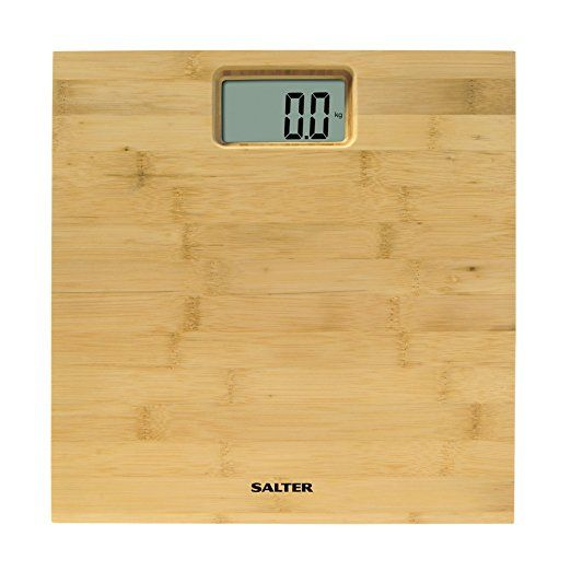 Salter Electronic Digital Lcd Bathroom Weighing Scale Bamboo