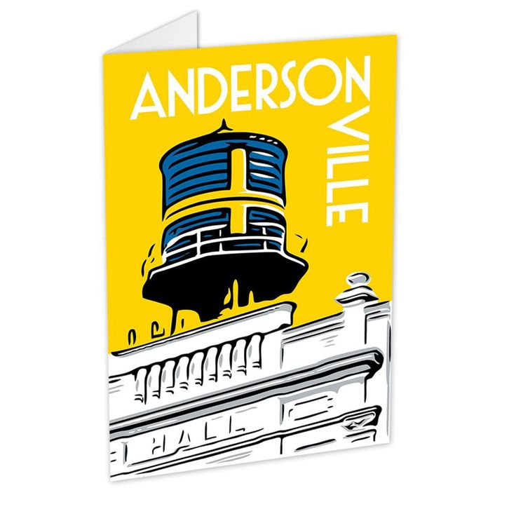 Features a design by local artist Chris Gorz of Chicagos Andersonville neighborhood and its landmark water tower located above the Swedish American Museum.