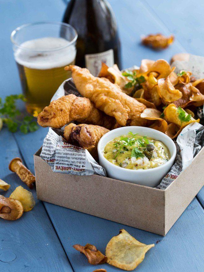 fish & chips chips de légumes d'hiver