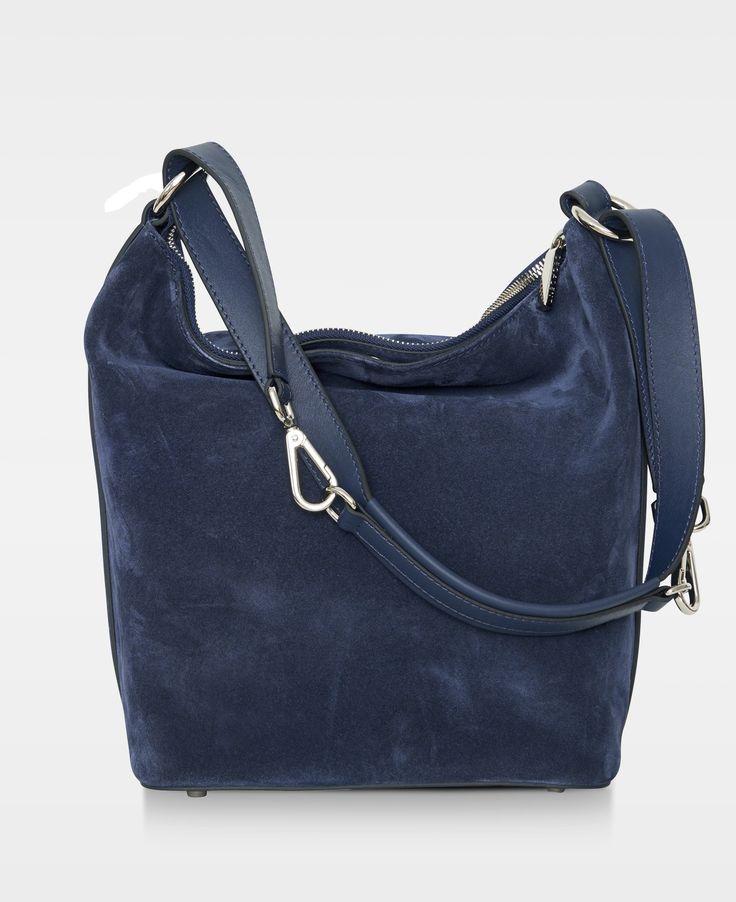 Decadent Small shoulder bag -   Suede navy