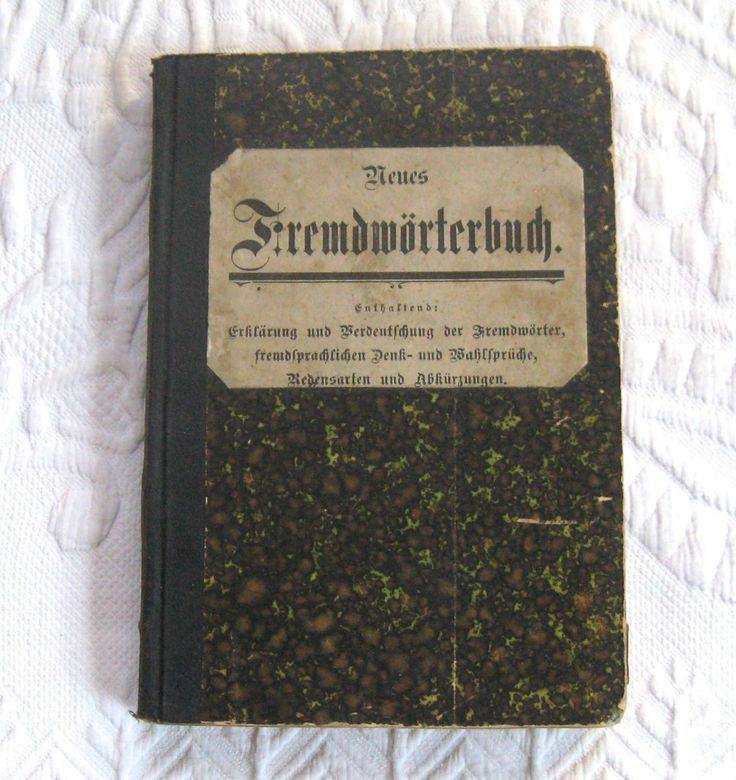 Fremdwoerterbuch . German Language Book . reference book . foreign words dictionary . 1910 . antique German dictionary by vintagous on Etsy