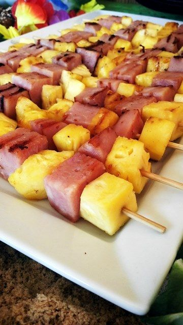 Grilled Ham & Pineapple Kebabs