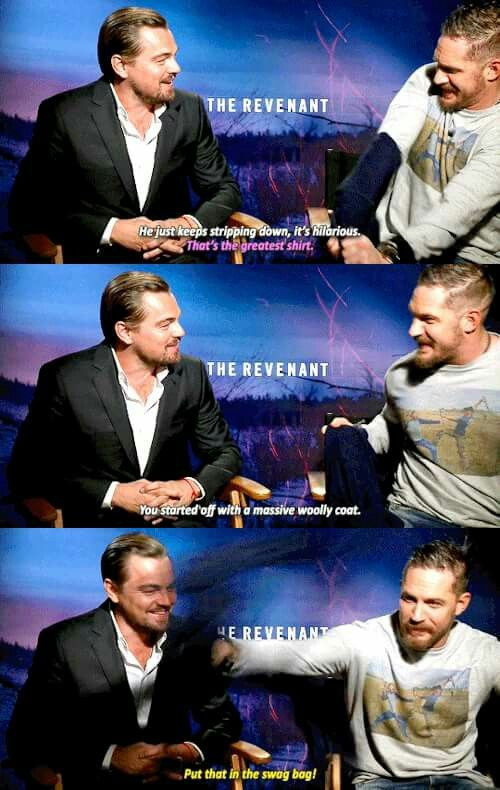 "Leonardo DiCaprio and Tom Hardy - ""The Revenant"" interview"