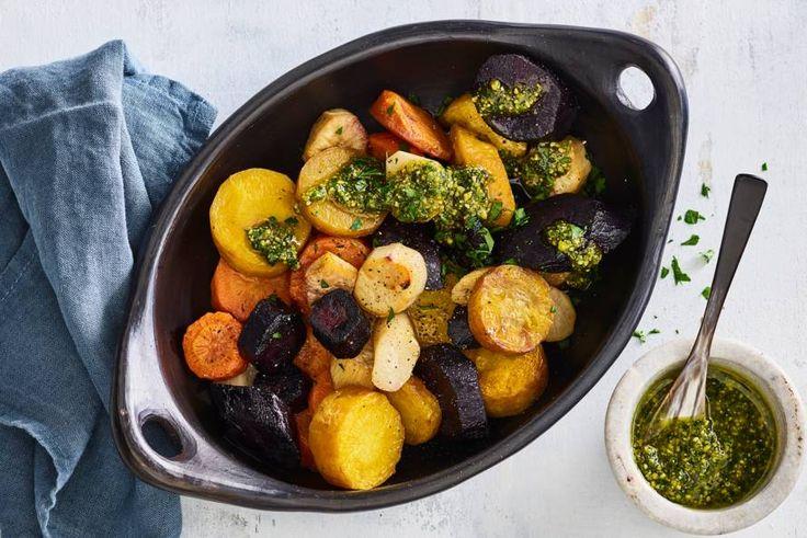 Een feestje zonder keukenstress, deze wortelmix uit de oven. - recept - Allerhande