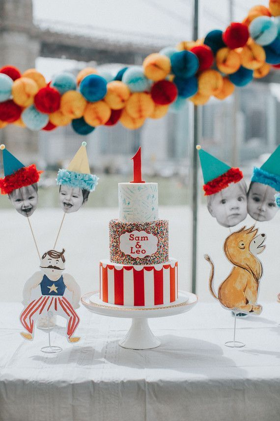 Brooklyn Carousel Twin 1st Birthday 100 Layer Cakelet Bloglovin 1st Boy Birthday Carnival Birthday Parties Boy Birthday Parties