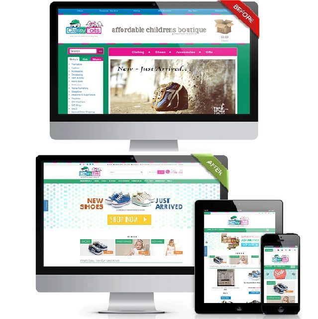 Turn your ordinary website into a responsive one so customers can browse your #onlinestore using any e-device. #ecommerce