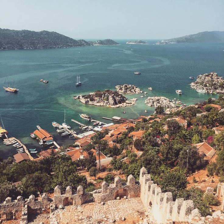 The amazing views from atop the ruined fortress of #Kekova in #Antalya province #Turkey