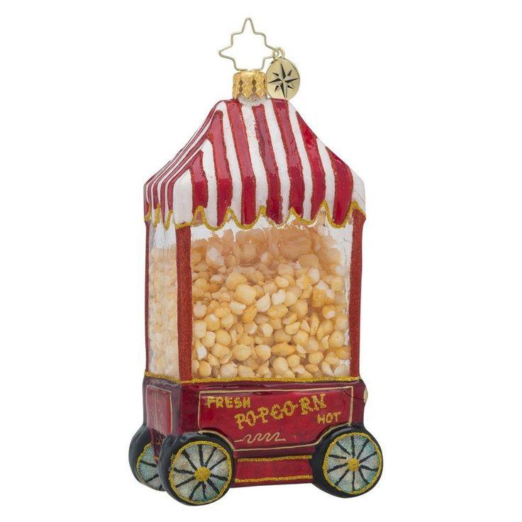 Christpoher Radko Hop Pop Popcorn Machine Hanging Ornament