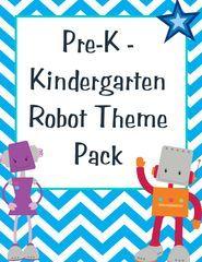 FREE robot theme pack! Preschool to kindergarten.