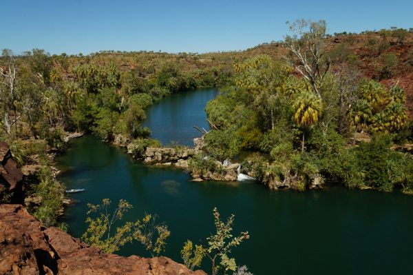Indarri Falls at Lawn Hill Gorge  An Oasis in Outback Queensland | Pegs on the Line