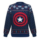 Captain America Snowflakes Ugly Men's Christmas Sweater