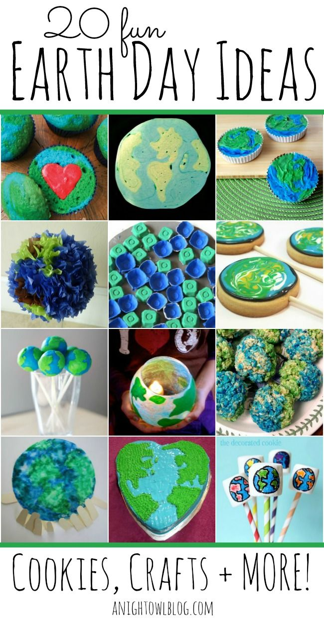 20 Fun Earth Day Ideas from @A Night Owl Blog. Get some great ideas featuring cookies, crafts and more!