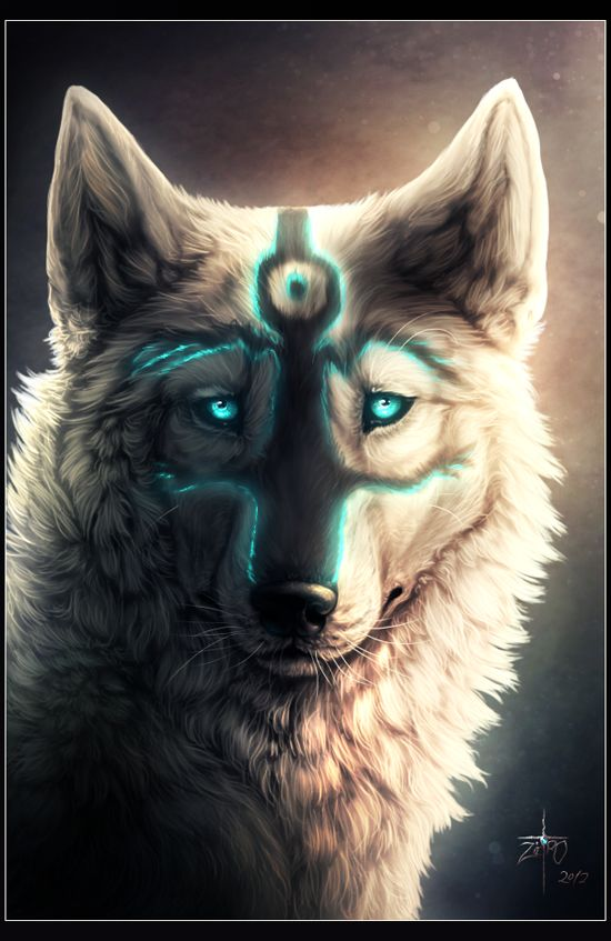 """.When the Wolf Spirit comes, look around you... She has come to protect what you have, to say """"it is good"""". Be grateful for the gift of the wolf, the teacher...."""