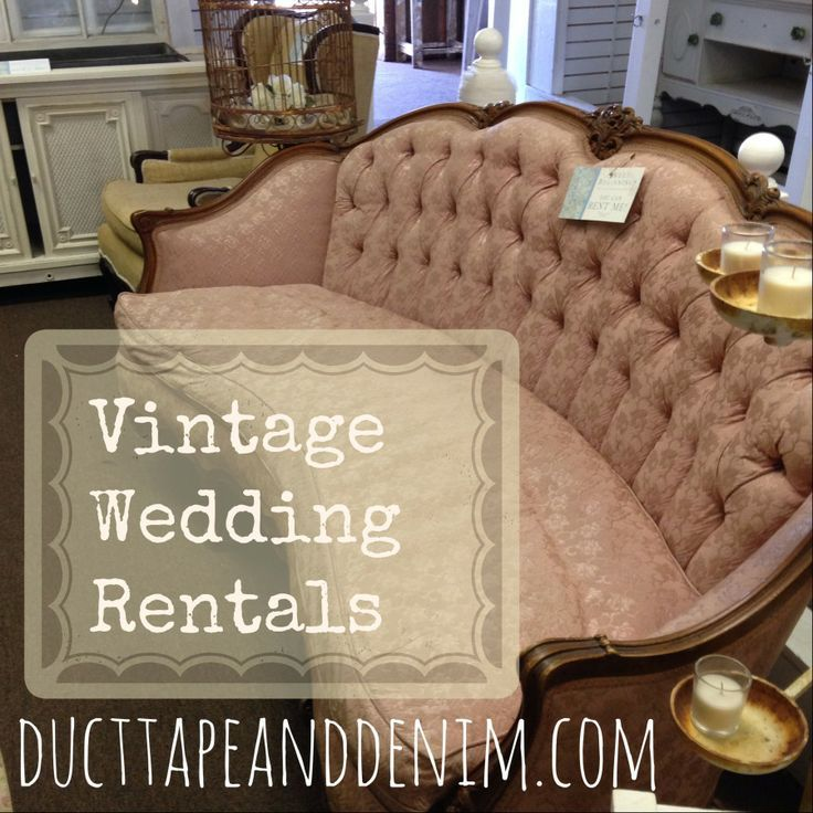 Vintage Wedding Rentals | DuctTapeAndDenim.com