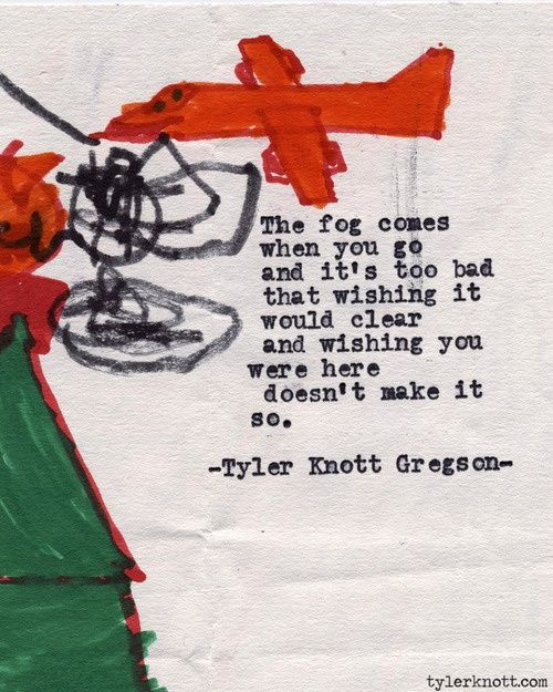 Typewriter Series #442聽by Tyler Knott Gregson. Invent me a word that can encompass this ache, 鈥榤issing鈥?is too small.