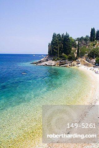 Leverechia Beach near Loggos, Paxos, Ionian Islands, Greek Islands, Greece…