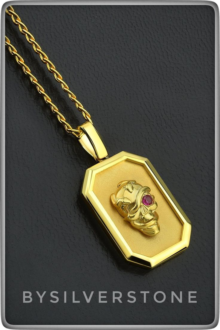 Gold Skull Pendnat Snake Skull Minimal Necklace Men Gold Etsy In 2020 Gold Skull Mens Gold Jewelry Minimal Necklace