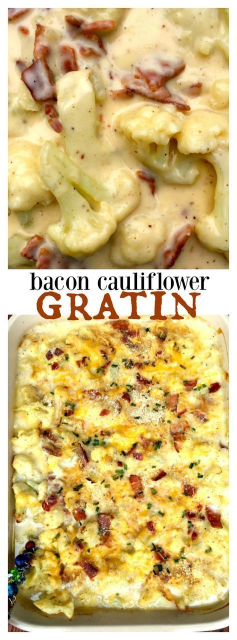 This Cauliflower Bacon Gratin is a delicious dish to serve for a cozy gathering, or a holiday potluck or meal. A winner at every table!