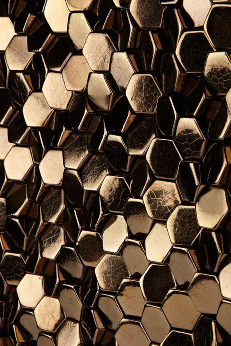 fantastic metallic HEXAGON SCALES   GILLES MILLER STUDIO  wow!