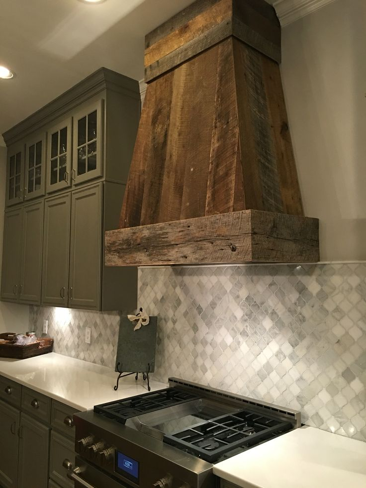 Country Kitchen Range Hoods Rectangle Table And Chairs Barnwood Ventahood By Anna Berry Design, Llc., Www ...