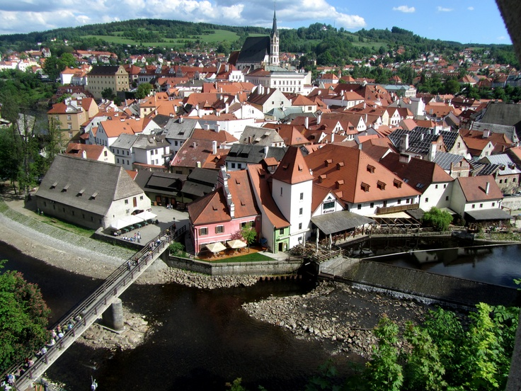 Czechy Krumlov, Czech Republic. Walked the path,looked out the window and strolled through the gardens.  Even too a peak at the bears!