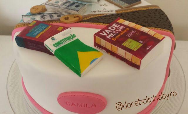 Doce Bolinho by Ro: Bolo Advogada/Economista