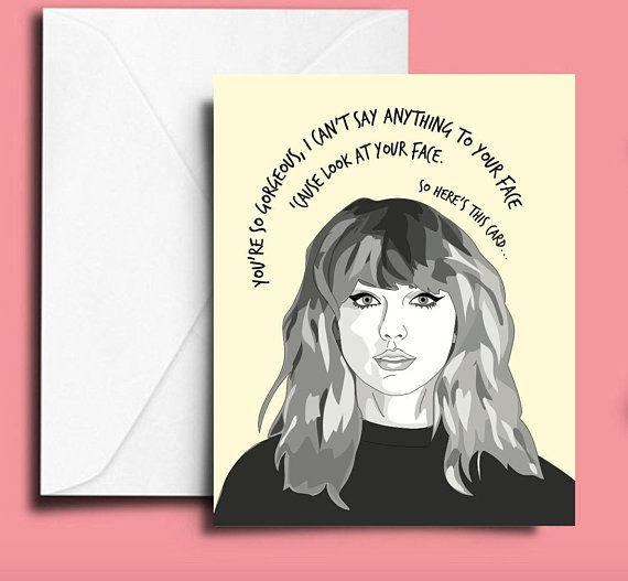 Taylor Swift Card Printable Taylor Swift Artsy Background Cards