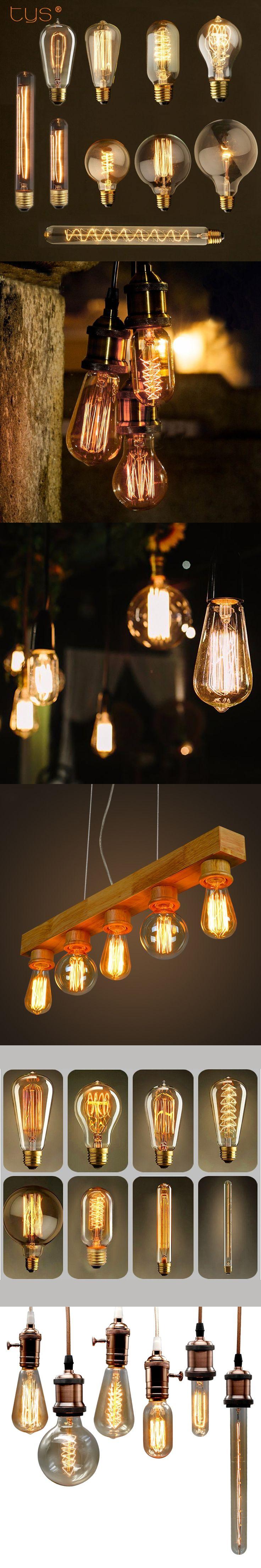 Edison Bulb E27 220v Incandescent Lamp 40W Vintage Lamp Pendant Light Retro Lighting Ceiling lampadas Filament Bulb Edison Lamp