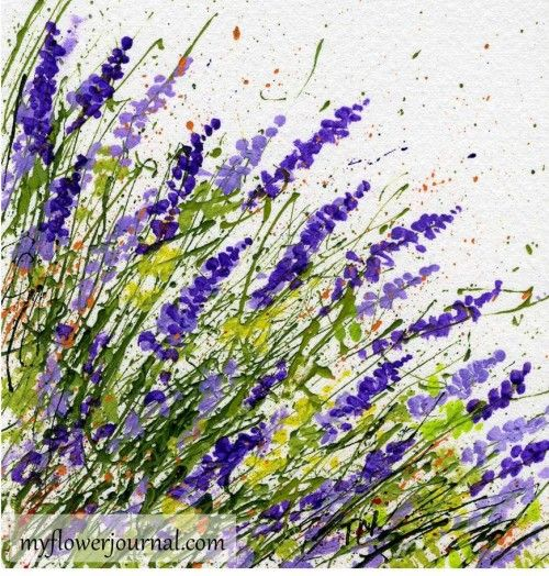 Try a different angle splatter when splatter painting-myflowerjournal.com Tammy Northrup