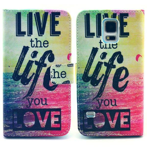 Live the Life You Love bookcase voor Samsung Galaxy S5