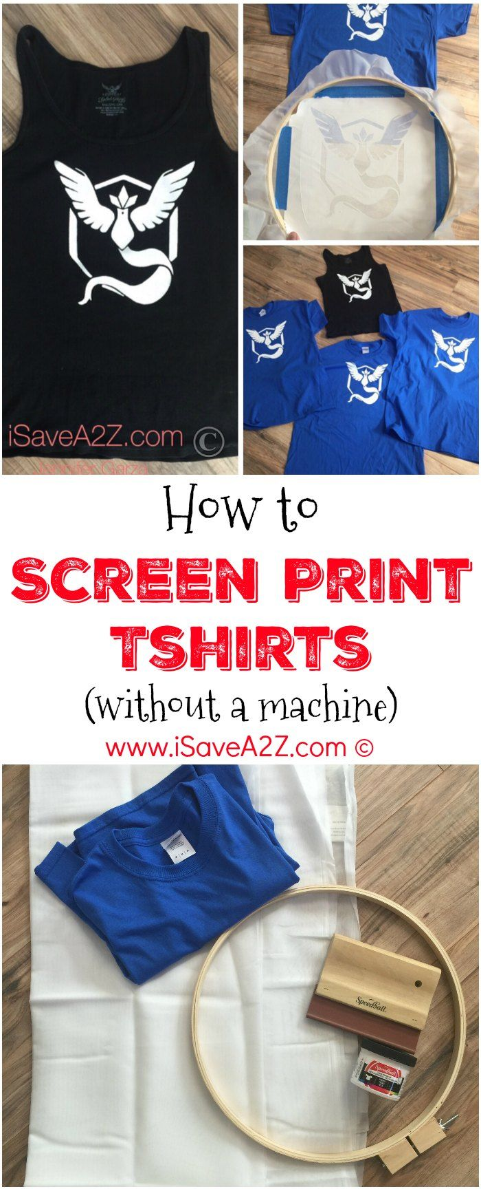 How to Screen Print tshirts without a machine - this is an excellent idea if you need to make personalize gifts!!!!