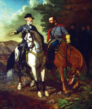 Romanticized last meeting of Generals Lee and Jackson at Chancellorsville