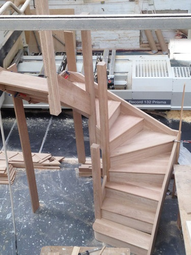 Solid Oak staircase 2 TURN Winder Stairs - SOLID OAK - ANY SIZE - Oak Stair | eBay