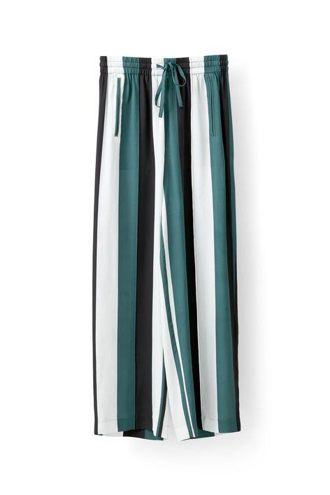 Electra Silk Pants, Block Stripes