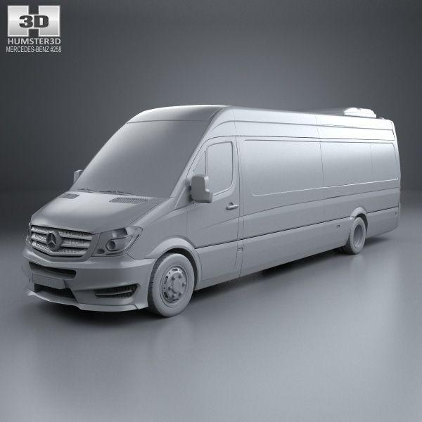 3d Model Of Mercedes Benz Sprinter Cuby City Line Long Bus 2016