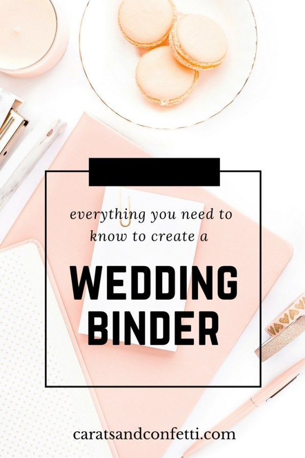 Everything you need to know to create a wedding binder