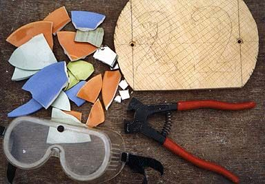 "The direct method for making a mosaic. Here are the items for making a mosaic, this shows you step by step, also has other methods on site! Mosaics and mosaic making information from ""The joy of shards"" Mosaics Resource"