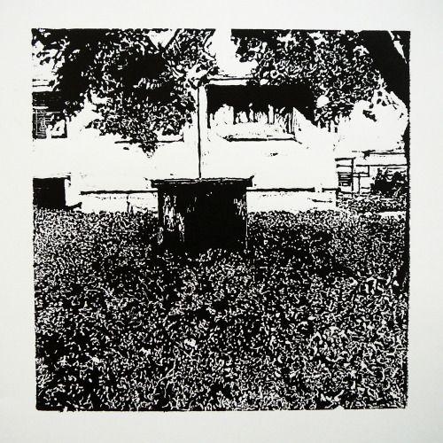 Piešťanská 2182-25 [printmaking, cutting into MDF] #printmaking #woodcut #bunker #art #shelters
