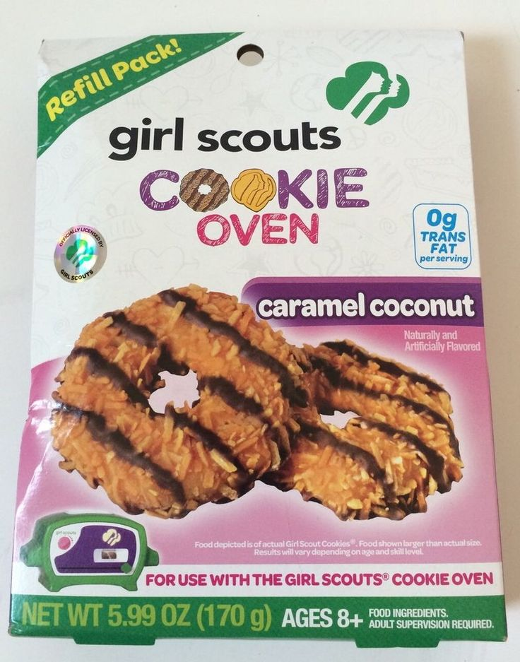 girl scouts caramel coconut easy bake oven refill pack mix