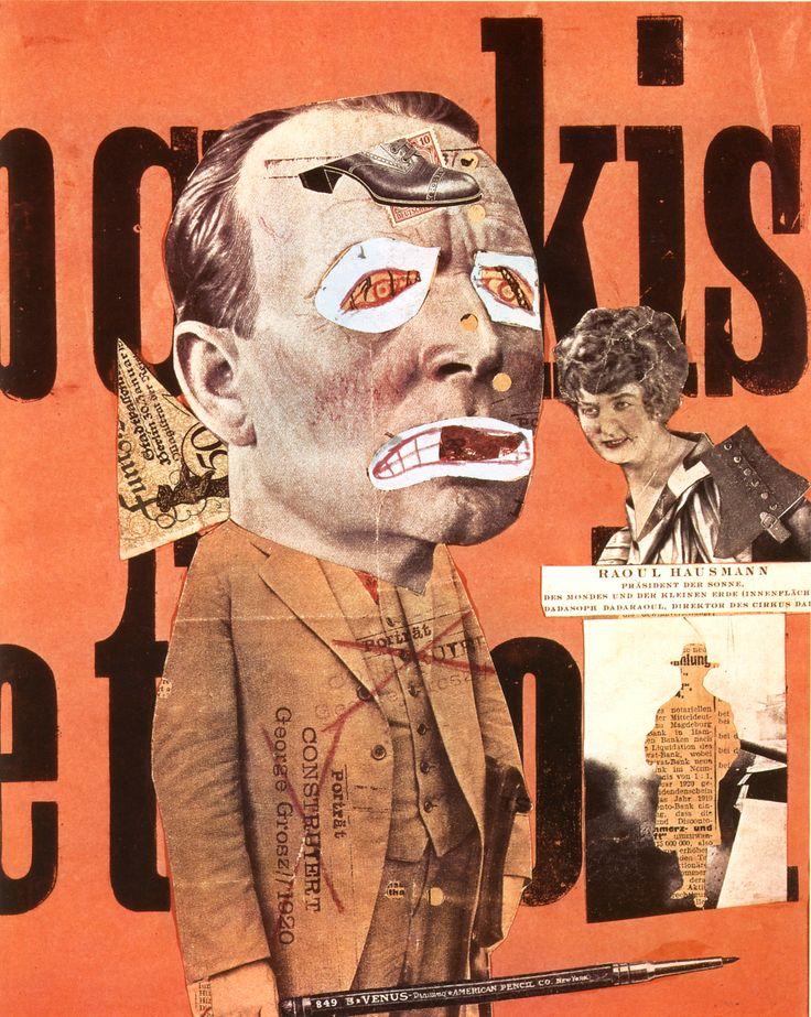 Le critique d'art, Raoul Hausmann, 1919-1920