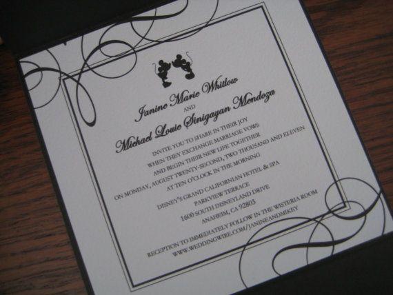 Classic Fairytale Wedding Invitation