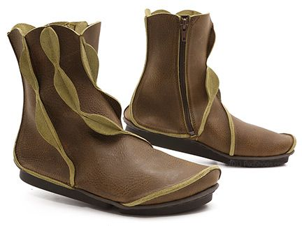 Trippen Treasure $179.00. Made in Germany. Treasure! What a perfect name for this prize boot from Trippen! Crafted from luscious twice-dyed olive leather, this show stopper's juicy citrus edges flash with panache along the rippling seams that flow down the shaft and around the body.